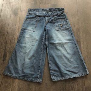 DKNY vintage cropped wide leg woman's jeans